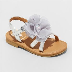 Flowers by Nina Toddler Silver sandals